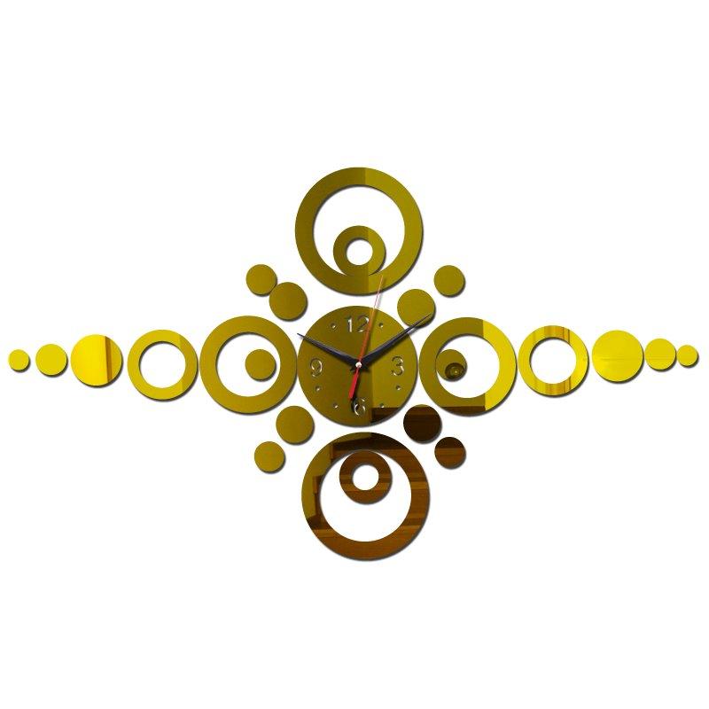 """Настенные 3D часы с зеркальным эффектом """"Круги"""""""