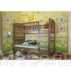 Двухъярусная кровать Смайл (деревянная)