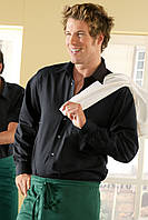 Рубашка бармена мужская TEXSTYLE длинный рукав черная