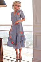 Симпатичное платье с воланами и цветочным принтом, фото 1