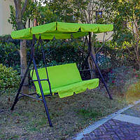 Диван качеля садовая AllSet 3-х местная YF-SW009 зеленая
