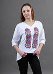 Трикотажная женская футболка в современном стиле, фото 2