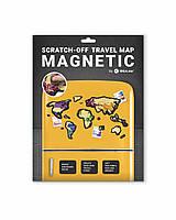 Скретч Карта Мира Travel Map ® MAGNETIC World | карта путешествий | карта желаний | оригинальный подарок