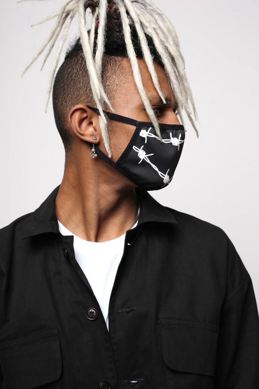 """Маска для обличчя чорний """"Дріт"""" від бренду ТУР"""