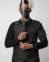Жилет чорний хайповий Кано (Kano) чоловічий від бренду ТУР, фото 1