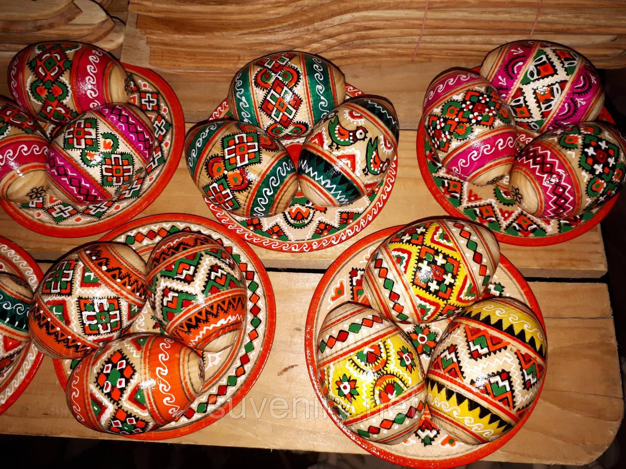 Пасхальные деревянные писанки наборы разные цвета
