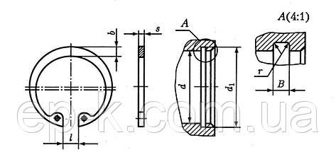 Стопорное кольцо внутреннее А110 ГОСТ 13943-86, DIN 472, фото 3
