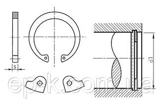 Стопорное кольцо внутреннее А110 ГОСТ 13943-86, DIN 472, фото 2