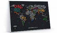 Скретч Карта Мира Travel Map ® LETTERS World   карта путешествий   карта желаний   оригинальный подарок