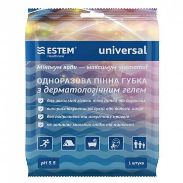 Губка ЕСТЕМ одноразовая пенная с дерматологическим гелем Universal № 1