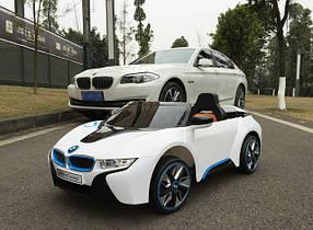 Детский электромобиль BMW i8 JE168 белый на пульте, електромобиль БМВ