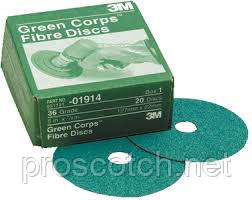 3M™ 01913 Фибровые круги Green Corps, Р50, 127 х 22 мм