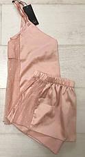 Шелковый персиковый комплект майка и шортики ТМ Orli, фото 3