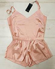 Шелковый персиковый комплект майка и шортики ТМ Orli, фото 2