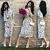 Женское платье длины миди из софта с карманами, фото 3