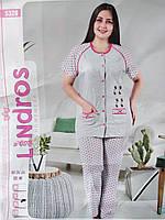 Пижама женская футболка + брюки