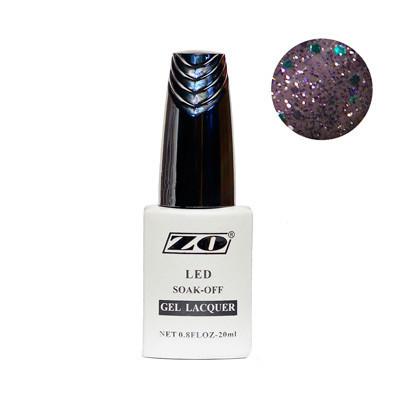 Гель-лак ZO, серый перламутр с блестками, 20 мл