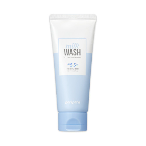 Мягкая пенка для умывания pH 5,5 PERIPERA Milk Wash Cleansing Foam Relief Care, 100 мл