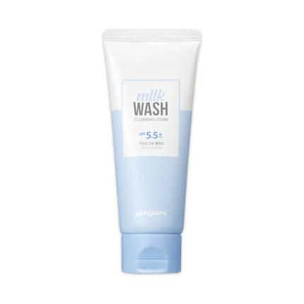 Мягкая пенка для умывания pH 5,5 PERIPERA Milk Wash Cleansing Foam Relief Care, 100 мл, фото 2