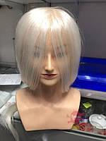 Голова-манекен учебная c плечами (натуральные волосы), Блондинка, фото 1