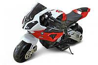 Детский электро мотоцикл на аккумуляторе BMW JT528  свет, звук, електромобиль БМВ