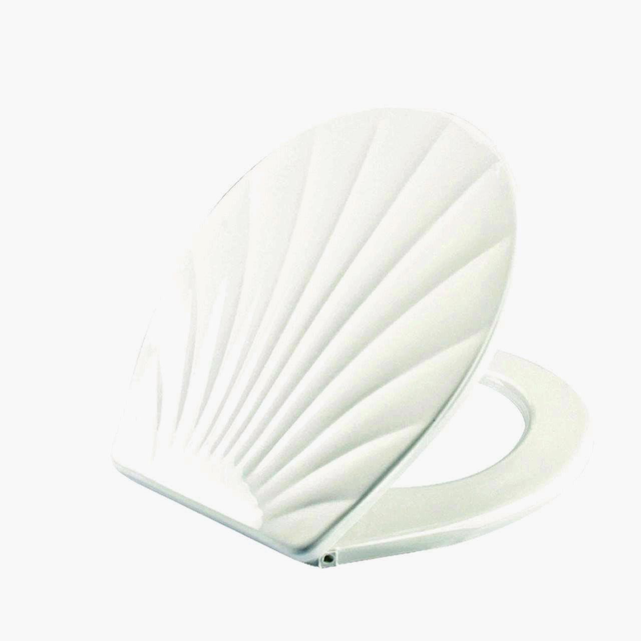 Сиденье для унитаза ракушка белая