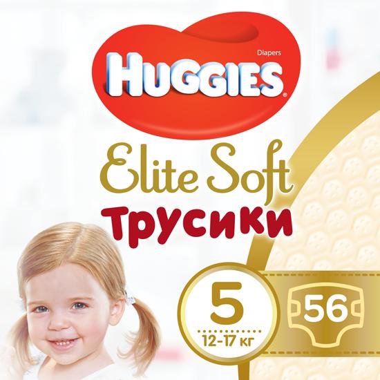 Трусики-подгузники Huggies Elite Soft Pants Mega 5 (12-17 кг), 56шт