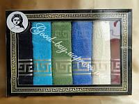 Набор из 6 кухонных махровых полотенец Gulcan Versace 6шт: 30х50 / хлопок / махра /Tурция