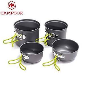 Набор посуды из анодированного алюминия Campsor BL-203 4 котла