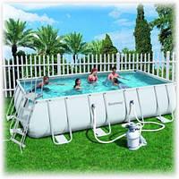 Каркасный бассейн Bestway 56256 (5.5x2.7x1.2 прямоугольный, песочный фильтр)