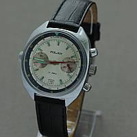 Poljot Полет 3133 механический хронограф СССР , фото 1