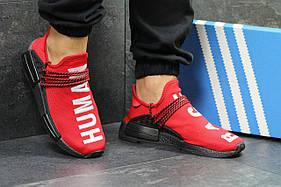 Мужские кроссовки Adidas NMD Human RACE адидас нмд, красные / кросівки адідас (Топ реплика ААА+)
