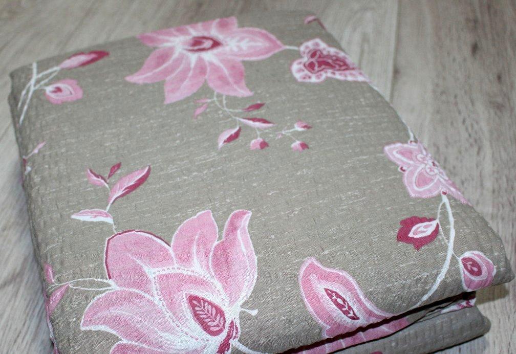 Постельное белье двухспальное жатка Тирасполь Цветочный принт