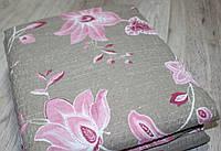 Постельное белье двухспальное жатка Тирасполь Цветочный принт, фото 1