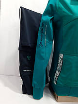 Спортивний трикотажний костюм SOCCER бірюза темно-синій розмір м, фото 2