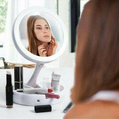 Зеркало с подсветкой для макияжа My Fold Away Mirror white, фото 2