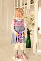 Сарафан на девочку джинс-розовый 4121, фото 1