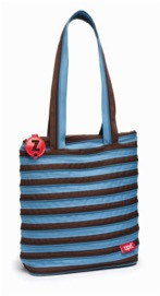 Сумка ZIPIT Premium Tote / Beach, цвет Ocean Blue & Soft Brown (голубой)