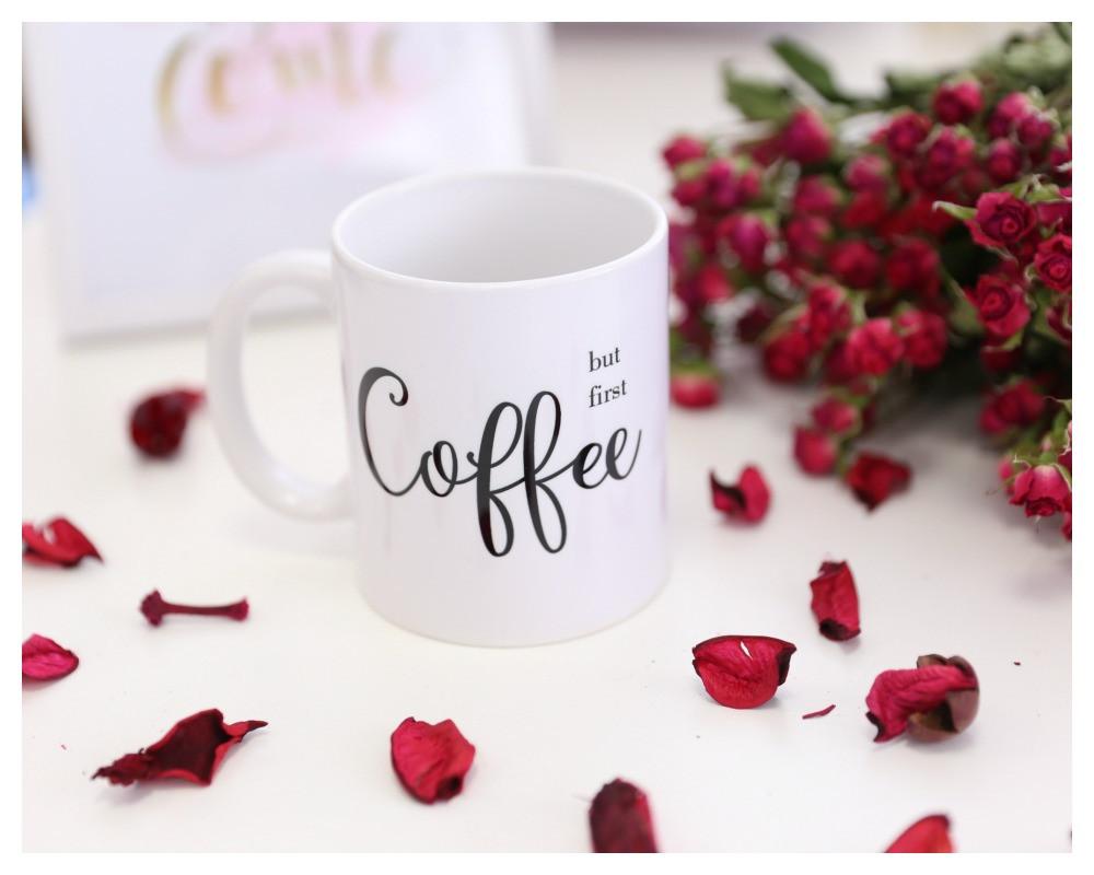"""Чашка """"Coffee but first"""""""
