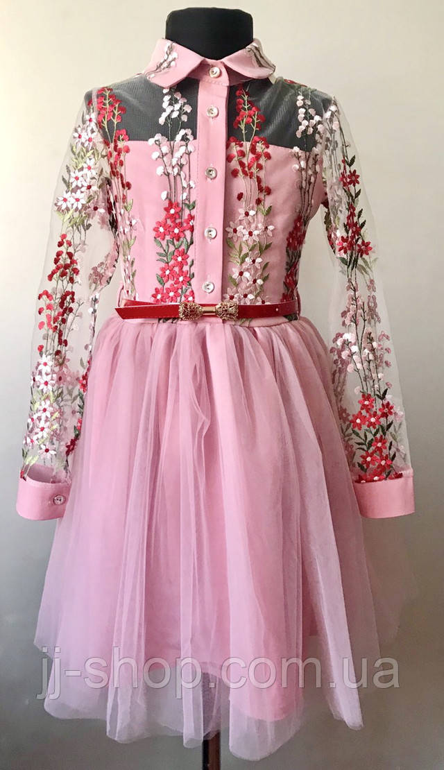 Платье для девочки с фатиновой юбкой