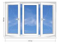 "Окно металлопластиковое Rehau Euro-60, 5-этажка ""Хрущевка"" 2100х1400 мм, фото 1"