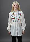 Стильная женская блуза с вышитыми цветами , фото 2