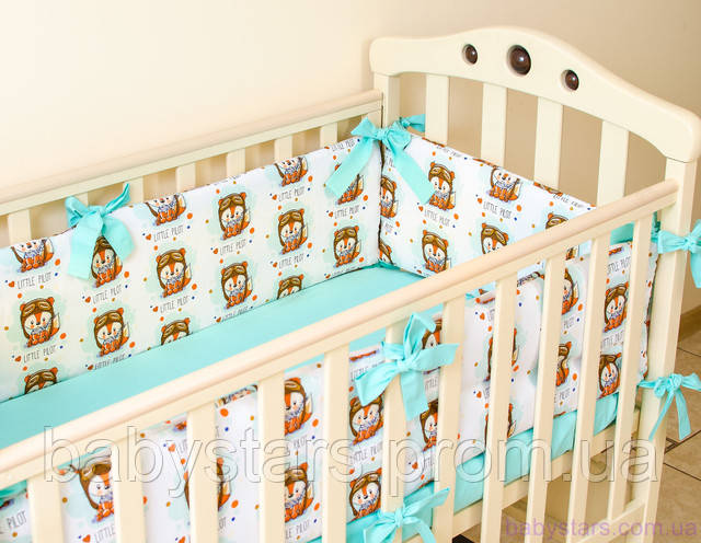 Бортики для кроватки новорожденных
