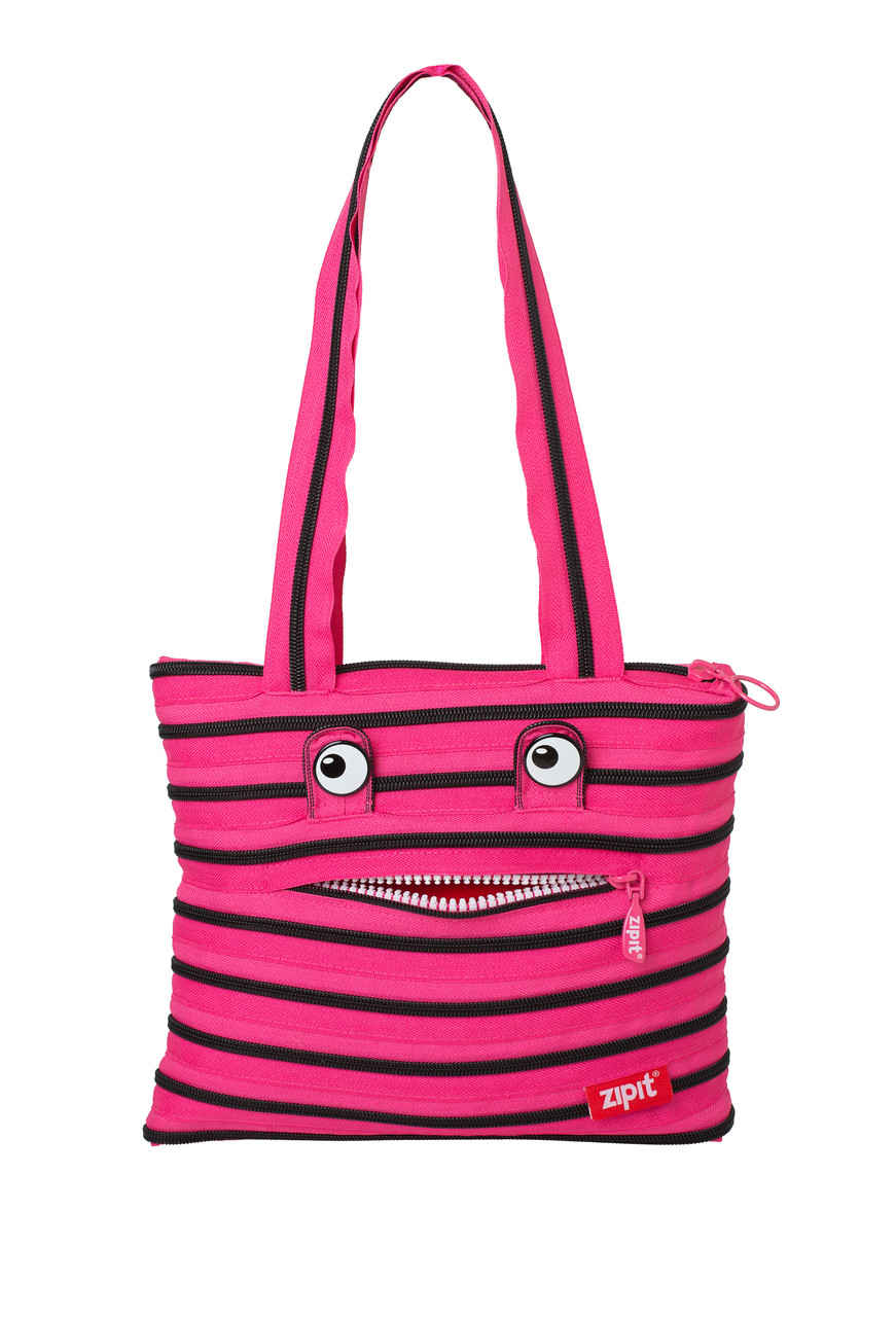 Сумка Zipit Monsters Tote / Beach Pink Begonia & Black Teeth (ZBZM-2)