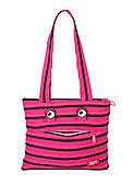 Сумка Zipit Monsters Tote / Beach Pink Begonia & Black Teeth (ZBZM-2)