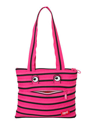 Сумка ZIPIT MONSTERS Tote / Beach, цвет Pink Begonia & Black Teeth (розовый), фото 2