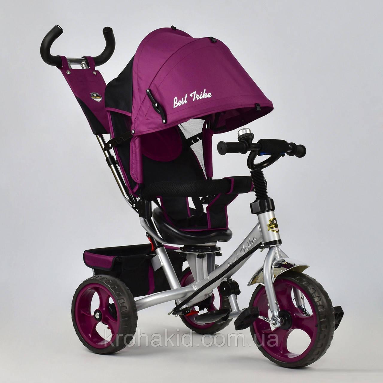 Велосипед трехколесный 5700 - 4450 ФИОЛЕТОВЫЙ ПОВОРОТНОЕ СИДЕНЬЕ, КОЛЕСА EVA (ПЕНА)