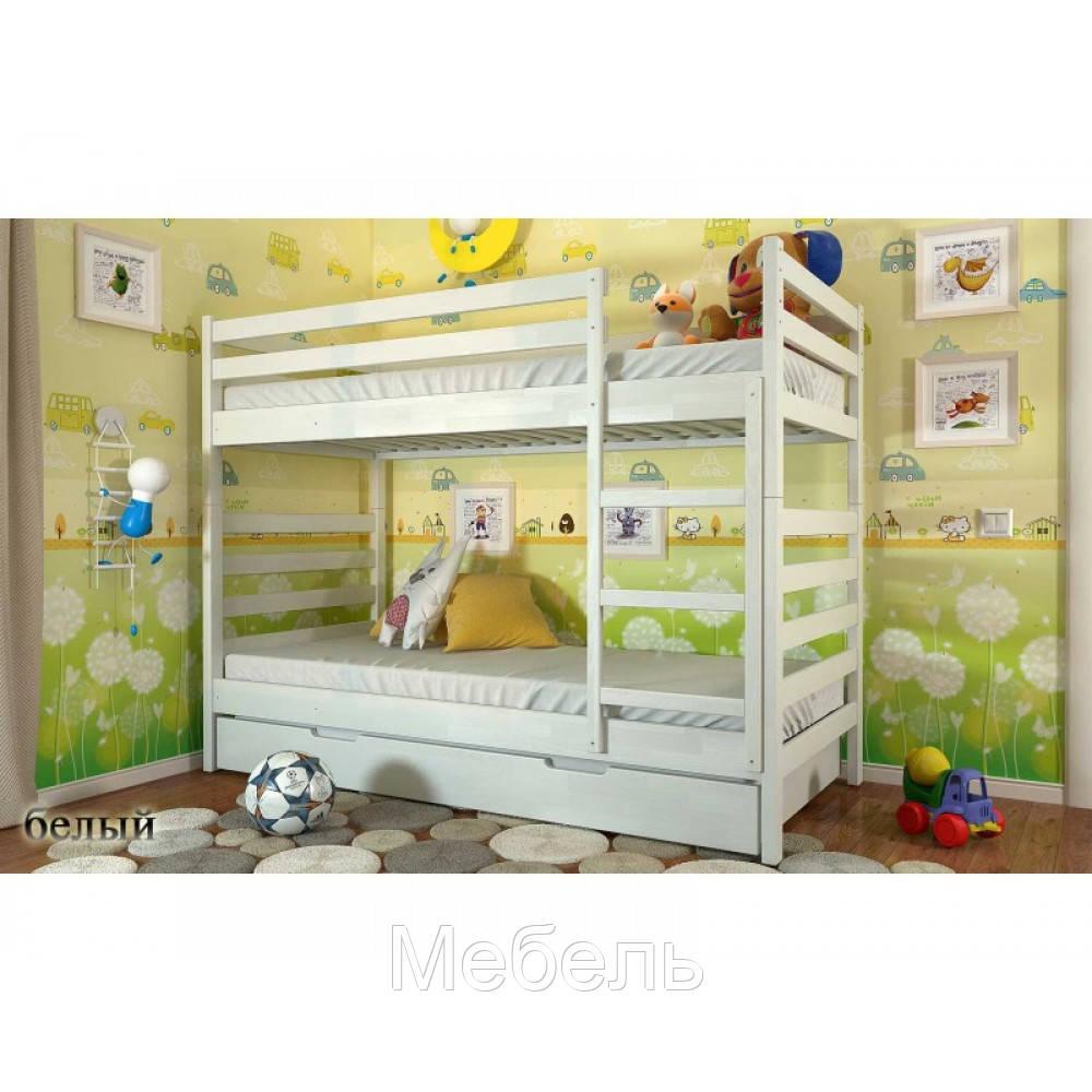 Двухъярусная кровать Рио (деревянная) 80*190(200) без ящиков