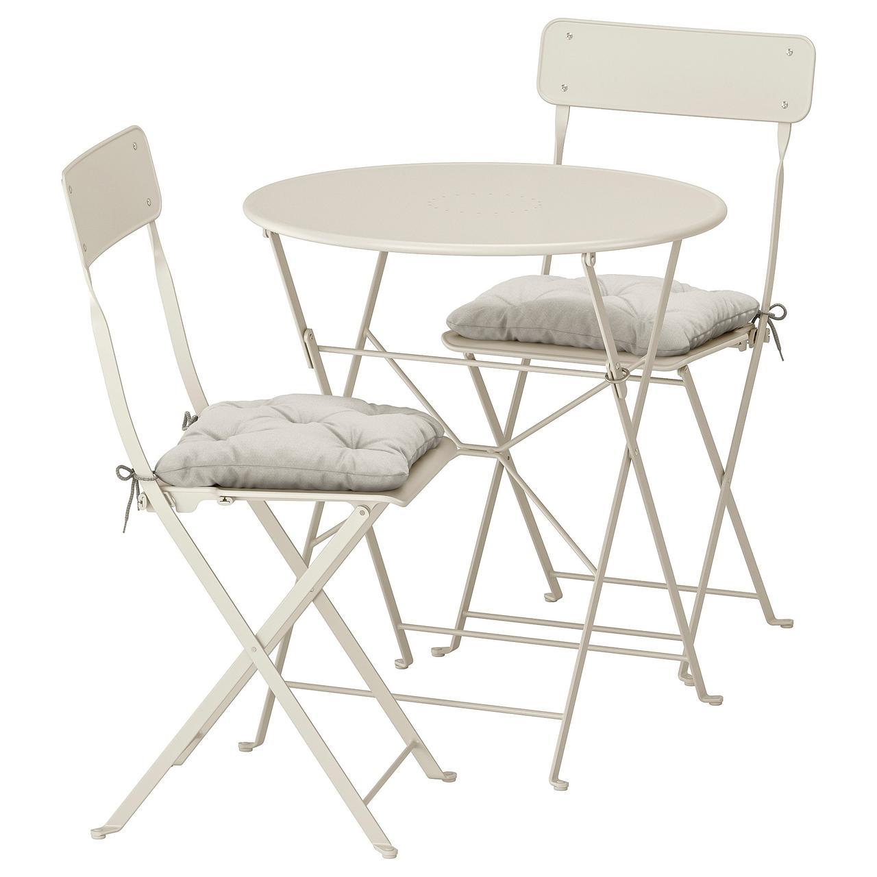 IKEA SALTHOLMEN Стіл+2 розкладних крісла