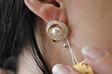 Серебряный набор украшений 058 серьги и кольцо, фото 6